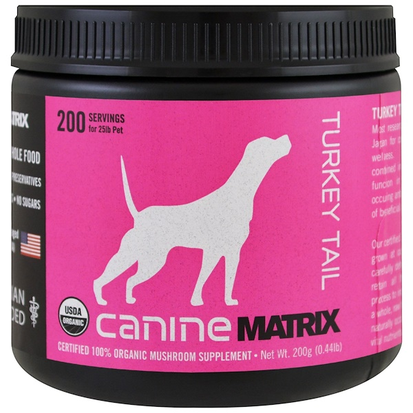 Canine Matrix, Turkey Tail, Mushroom Powder, 0.44 lb (200 g)