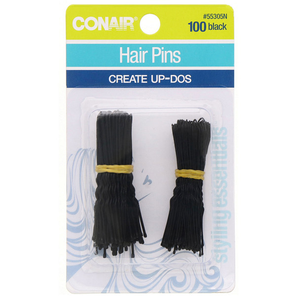 Conair, Hair Pins, Create Up-Dos, Black, 100 Pieces
