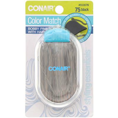 Купить Conair Однотонные невидимки, черные, 75 шт.