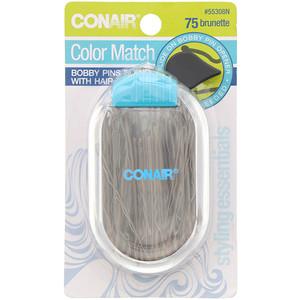 Conair, Color Match, Bobby Pins, Brunette, 75 Pieces отзывы покупателей