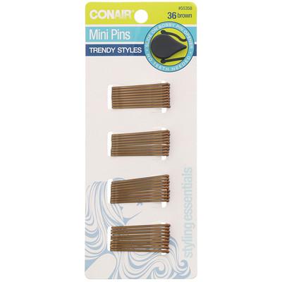 Купить Conair Мини-шпильки, коричневые, 36шт.