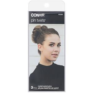 Conair, Pin Twirls, Metal Spiral Pins, 3 Pieces отзывы покупателей