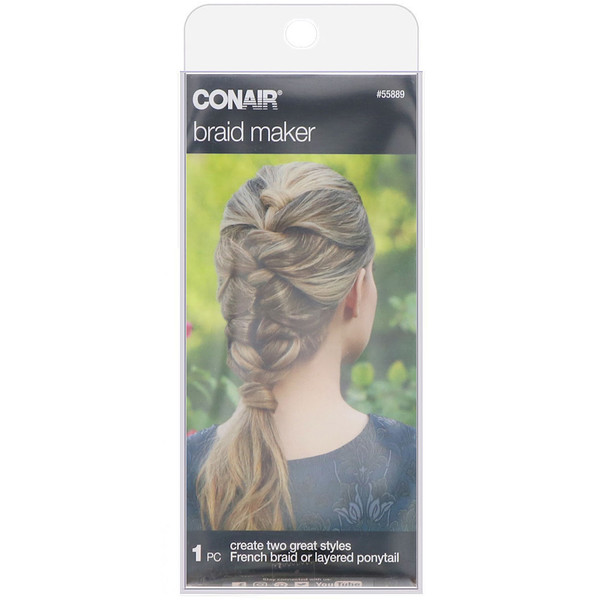 Conair, Braid Maker for French Braid or Layered Ponytail, 1 Piece (Discontinued Item)