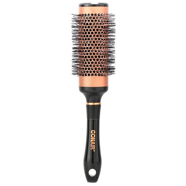 Cepillo pequeño y redondo para secado rápido de cabello, Colección de cobre, 1cepillo