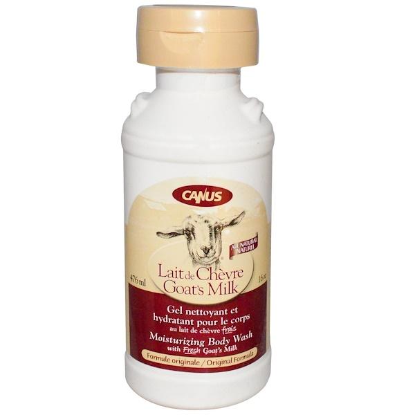 Canus, Goat's Milk, Moisturizing Body Wash, Original Formula, 16 oz (476 ml) (Discontinued Item)
