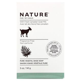 Nature by Canus, Fresh Goat Milk, Soap Bar, Fragrance Free, 5 oz (141 g)