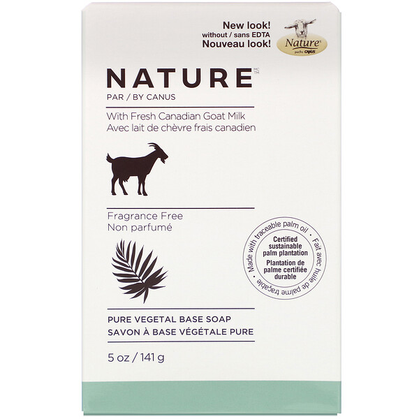 Canus, Pure Vegetal Base Soap with Fresh Canadian Goat Milk, Fragrance Free, 5 oz (141 g) (Discontinued Item)