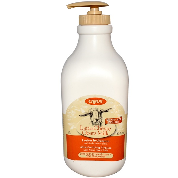 Canus, Goat's Milk, Moisturizing Lotion, with Marigold Oil, 33.6 oz (1 L) (Discontinued Item)
