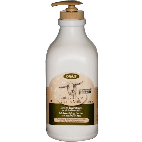 Canus, Goat's Milk, Moisturizing Lotion with Olive Oil and Wheat Protein, 33.6 oz (1 L) (Discontinued Item)