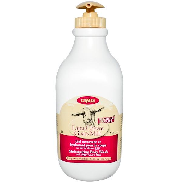 Canus, Goat's Milk, Moisturizing Body Wash, Original Fragrance, 33 fl oz (975 ml) (Discontinued Item)