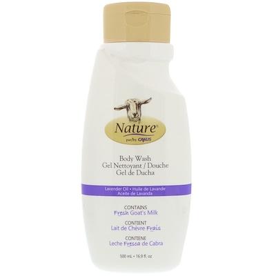 Canus 沐浴露,含新鮮山羊奶,薰衣草油,16.9 液體盎司(500 毫升)