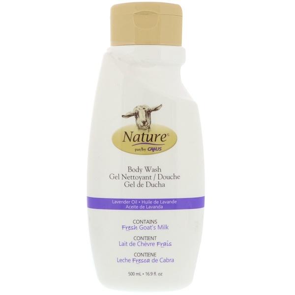 Canus, 沐浴露,含新鮮山羊奶,薰衣草油,16、9 液體盎司(500 毫升)