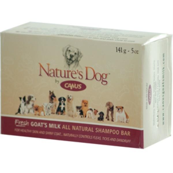 Canus, Nature's Dog, кусковой шампунь из свежего козьего молока, натуральный 5 унции (141 г) (Discontinued Item)
