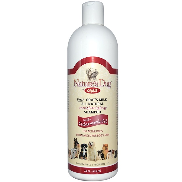 Canus, Nature's Dog, Fresh Goat's Milk, All Natural Moisturizing Shampoo, 16 oz (476 ml) (Discontinued Item)
