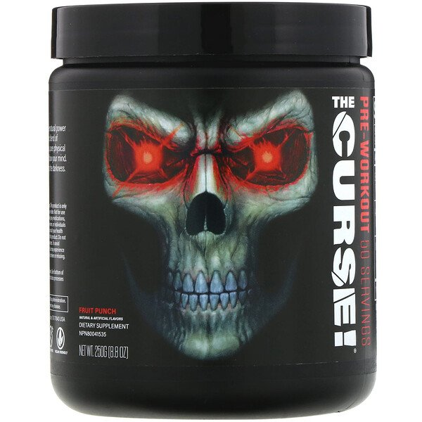 JNX Sports, The Curse, Pre-Workout, Fruit Punch,  8.8 oz (250 g)