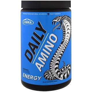 Cobra Labs, Daily Amino, Energy, Blue Raspberry Rush, 9.0 oz (255 g)