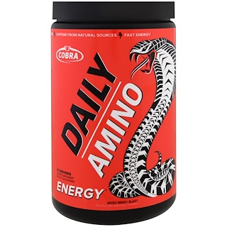 Cobra Labs, Daily Amino, Energy, Mixed Berry Blast , 9.0 oz (255 g)