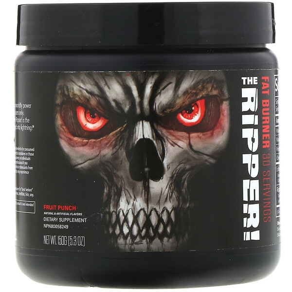 JNX Sports, The Ripper, quemador de grasas, ponche de frutas, 150 g (5,3 oz)