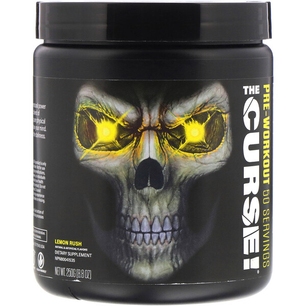 The Curse, Suplemento preentrenamiento, Lemon Rush, 250 g (8,8 oz. líq.)