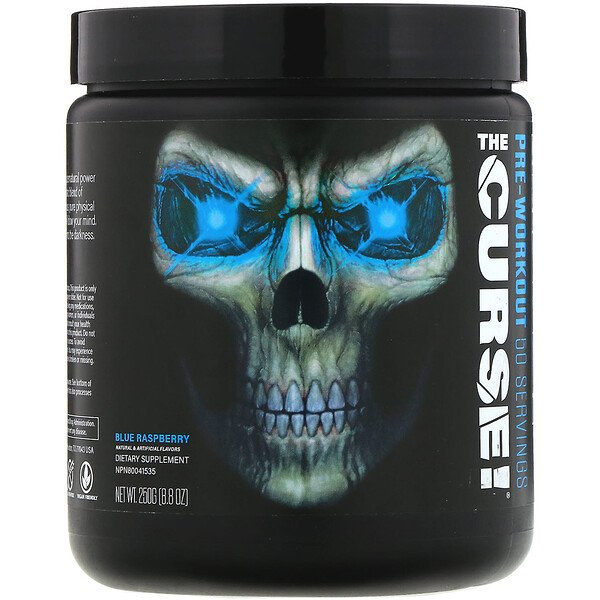 The Curse, Pre-Workout, Blue Raspberry, 8.8 oz (250 g)