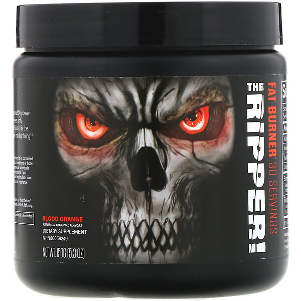 JNX Sports, The Ripper, quemador de grasas, naranja sanguina, 150 g (5,3 oz)