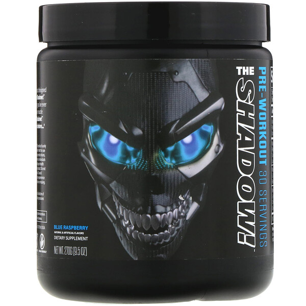 JNX Sports, The Shadow, para antes de realizar ejercicio, frambuesa azul, 270 g (9,5 oz)