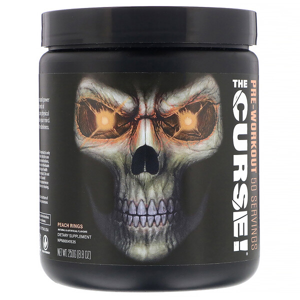 The Curse, Pre-Workout, Peach Rings, 8.8 oz (250 g)