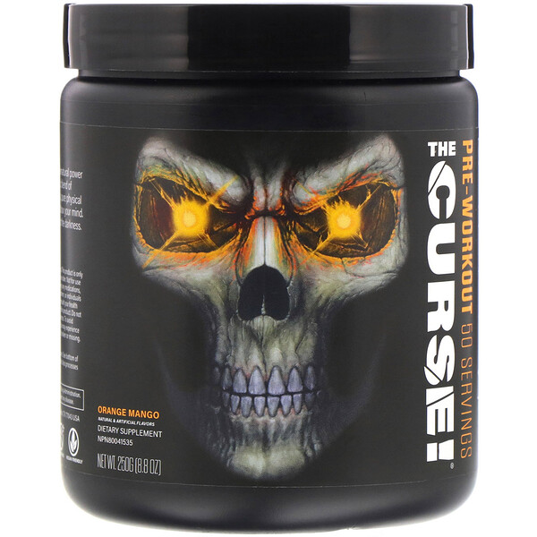 JNX Sports, The Curse, Pré-entraînement, Orange et mangue, 250 g