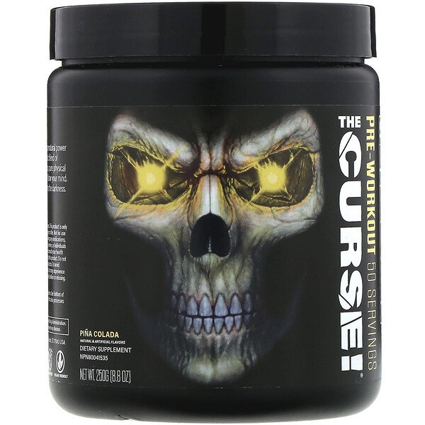 JNX Sports, The Curse, Pre-Workout, Pina Colada, 8.8 oz (250 g)