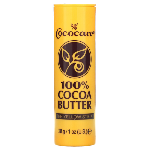 100% Cocoa Butter, The Yellow Stick, 1 oz (28 g)