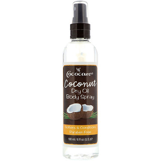 Cococare, Coconut Dry Oil Body Spray(코코넛 드라이 오일 바디 스프레이) + 코코넛 립 밤, 6 fl oz (180 ml), 4.2 g (15 oz)