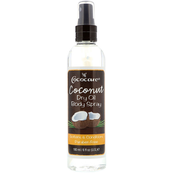Cococare, Coconut Dry Oil Body Spray, 6 fl oz (180 ml)