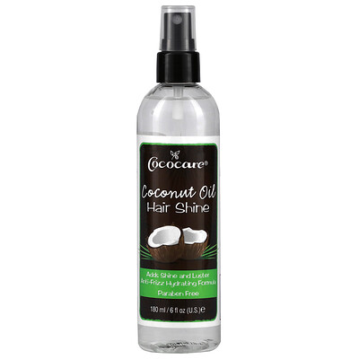 Купить Cococare Coconut Oil Hair Shine, 6 fl oz (180 ml)