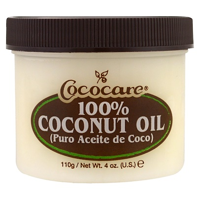 Купить 100% Кокосовое масло, 4 унции (110 г)