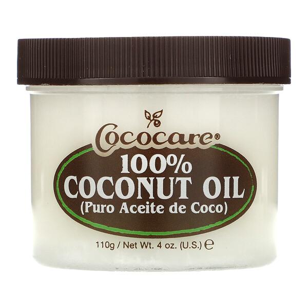 100% Кокосовое масло, 4 унции (110 г)