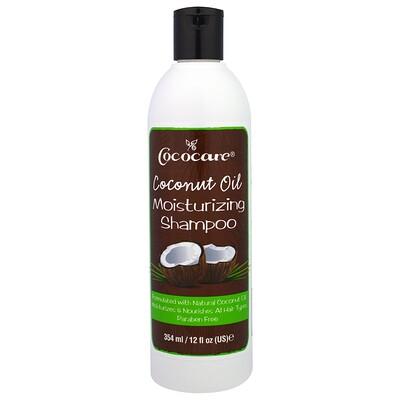 Cococare 椰子油保濕洗髮水,12液盎司(354毫升)
