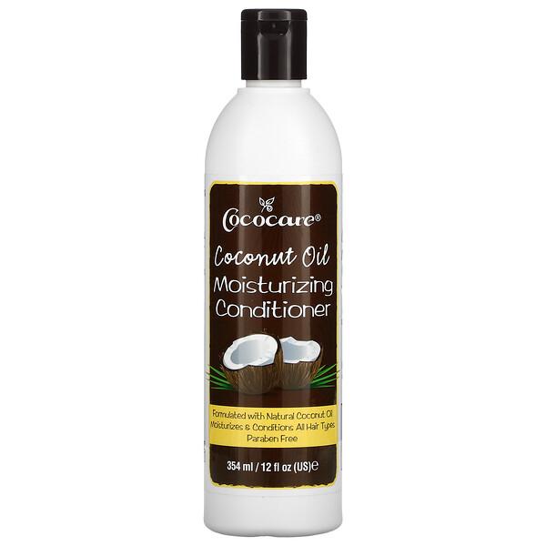 椰子油,保濕護髮素,12 液量盎司(354 毫升)