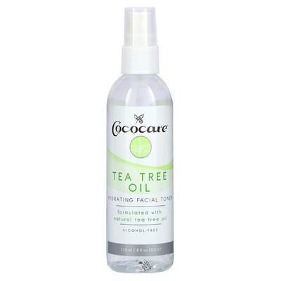 Cococare Tea Tree Oil, Hydrating Facial Toner, Alcohol-Free, 4 fl oz (118 ml)