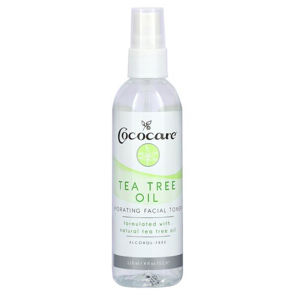 Tea Tree Oil, Hydrating Facial Toner, Alcohol-Free, 4 fl oz (118 ml)