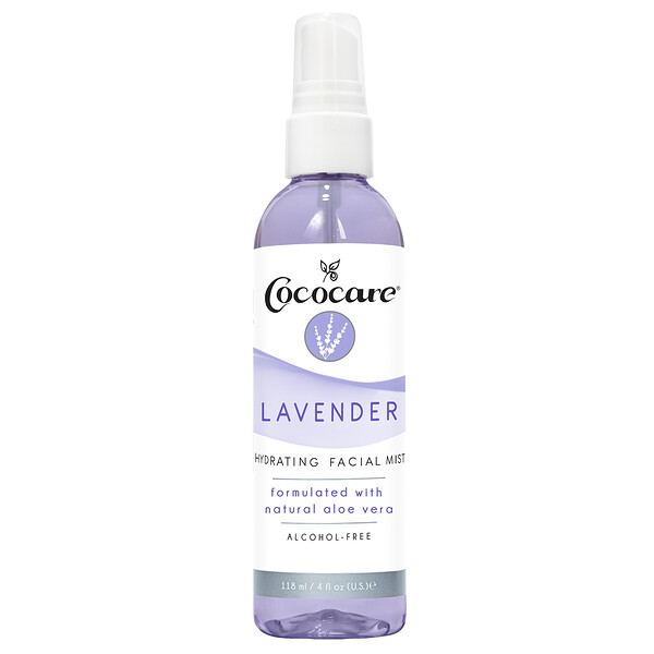 Cococare, Lavender, Hydrating Facial Mist, 4 fl oz (118 ml)