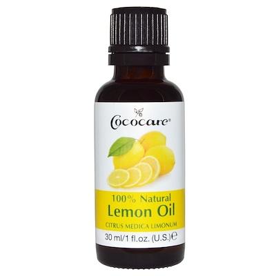 Купить Cococare 100% натуральное масло лимона, Citrus Medica Limonum, 1 жидкая унция (30 мл)