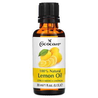 Cococare, 100% Natural Lemon Oil, Citrus Medica Limonum, 1 fl oz (30 ml)