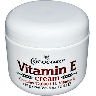 Cococare, Vitamina E en crema, 12,000 UI, 4 oz (110 g)