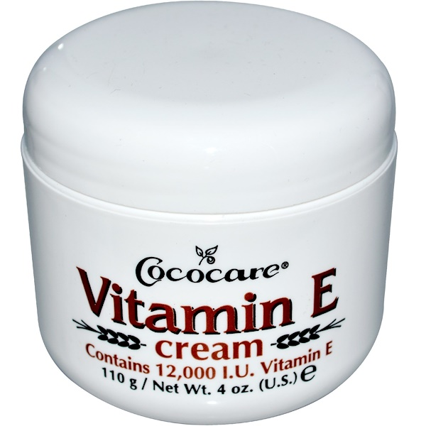 Vitamin E Cream, 12,000 IU, 4 oz (110 g)