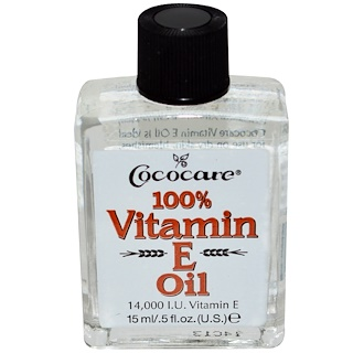 Cococare, 100% Vitamin E Oil, .5 fl oz (15 ml)