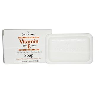 Cococare, Vitamin E Soap, Fragrance Free Antioxidant, 4 oz. (113 g)