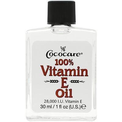 Купить Cococare 100% масло c витамином Е, 1 жидкая унция (30 мл)