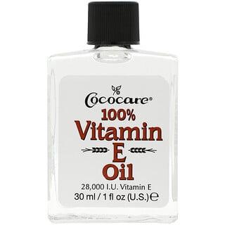 Cococare, 100% Vitamin E Oil, 28,000 IU, 1 fl oz (30 ml)
