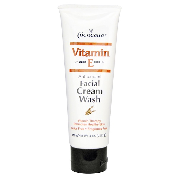 Cococare, Vitamin E, Antioxidant Facial Cream Wash, 4 oz (110 g)