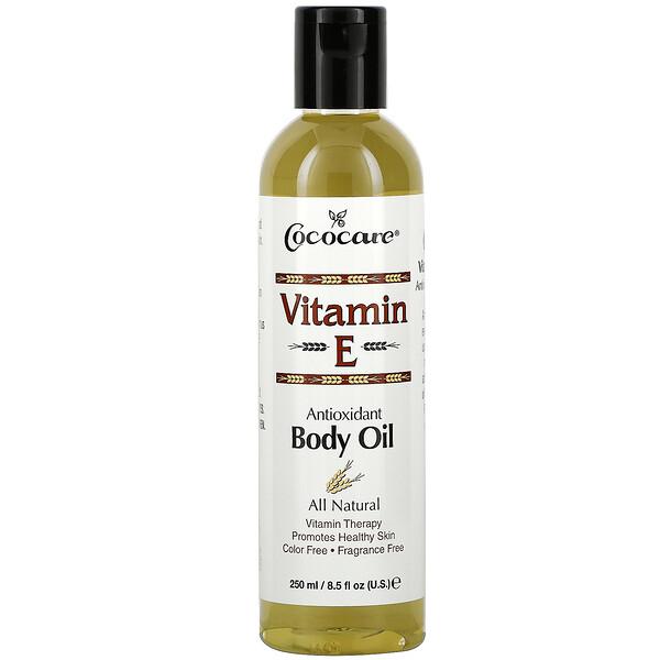 비타민 E, 바디 오일, 8.5 fl oz (250 ml)